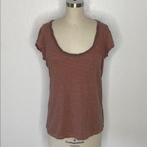 James Perse distressed stripe cotton summer top 3
